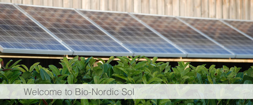 Welcome to Bio-Nordic Sol